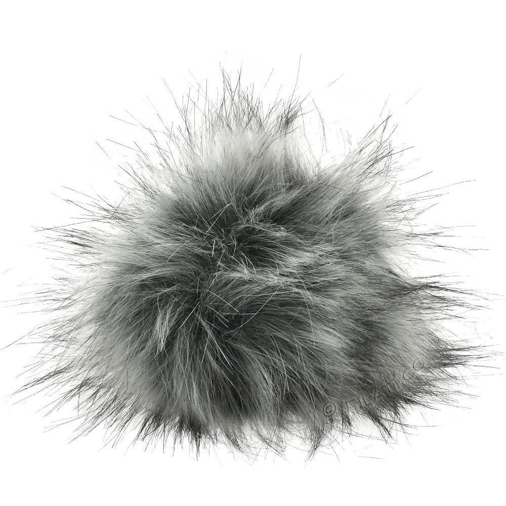 Faux Fur Pompon Langhaar