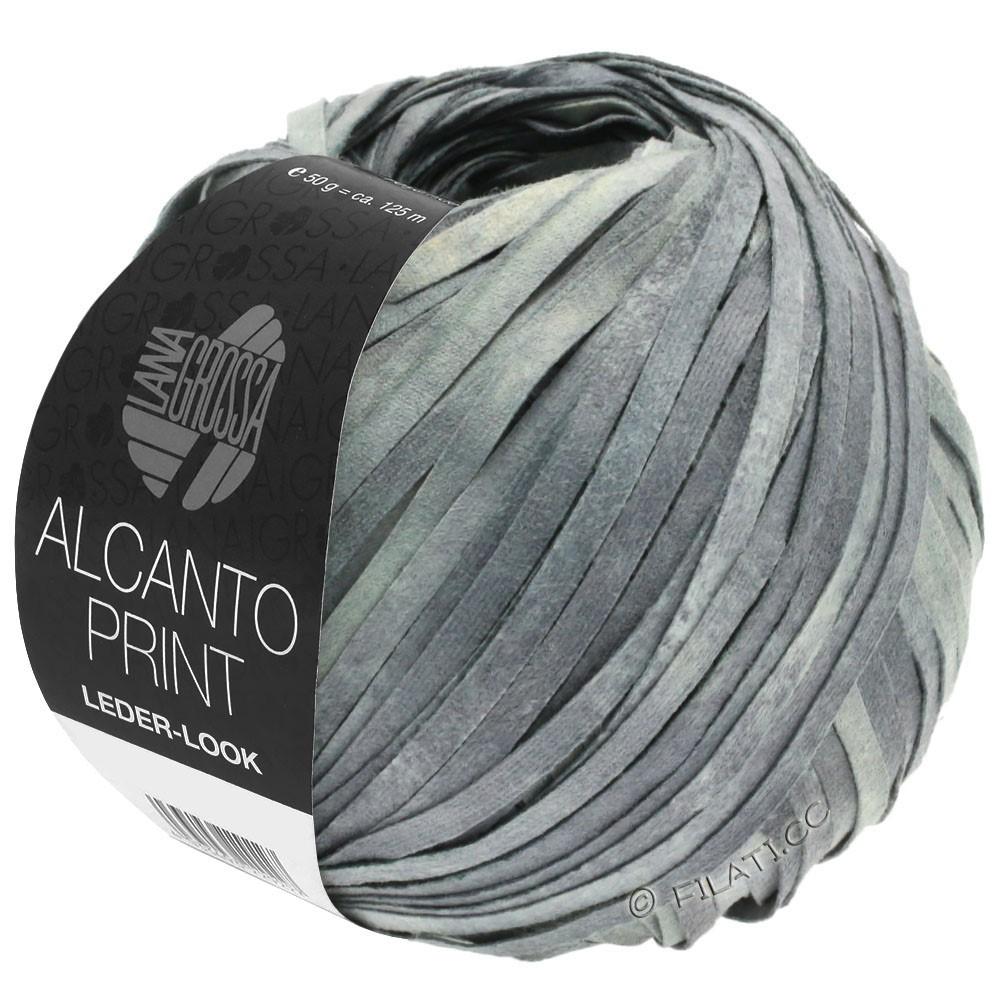Lana Grossa ALCANTO Print | 103-gennemsnit grå/lysegrå/natur
