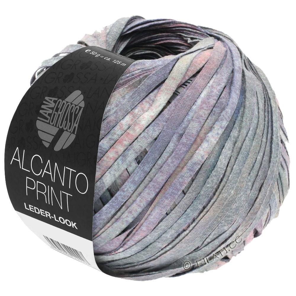 Lana Grossa ALCANTO Print | 104-grå/lilla/rosa