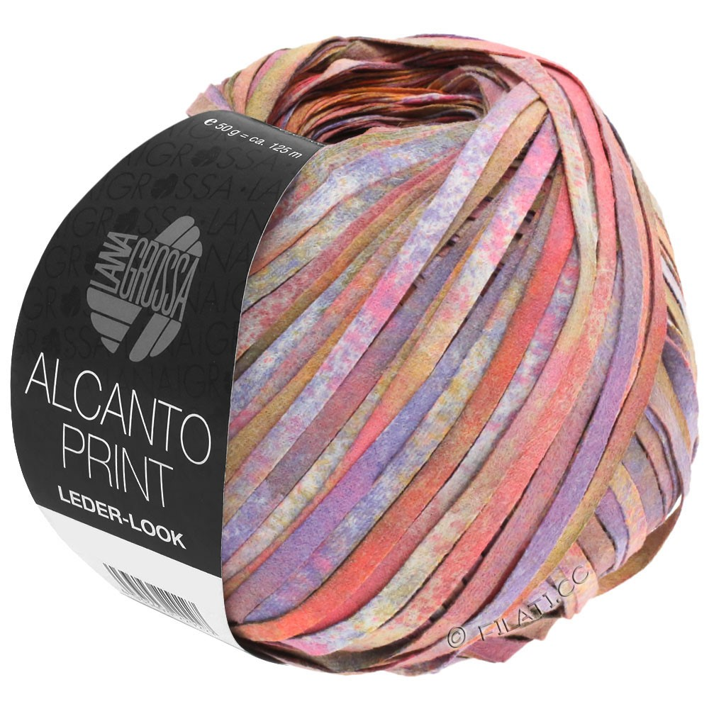 Lana Grossa ALCANTO Print | 106-rosa/purpur/brun