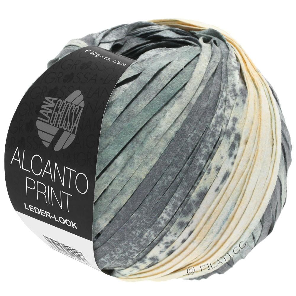 Lana Grossa ALCANTO Print | 203-grå/hvid