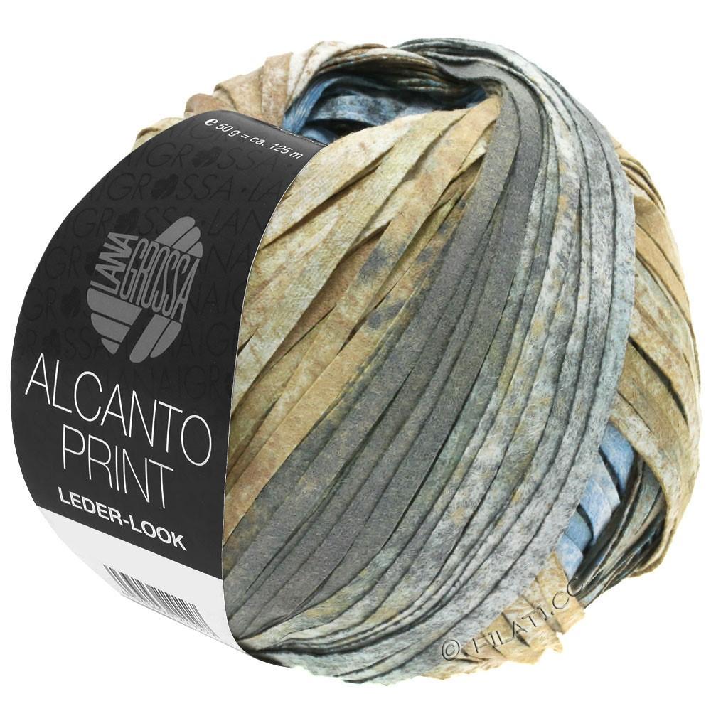 Lana Grossa ALCANTO Print | 206-natur/sandbrun/grå