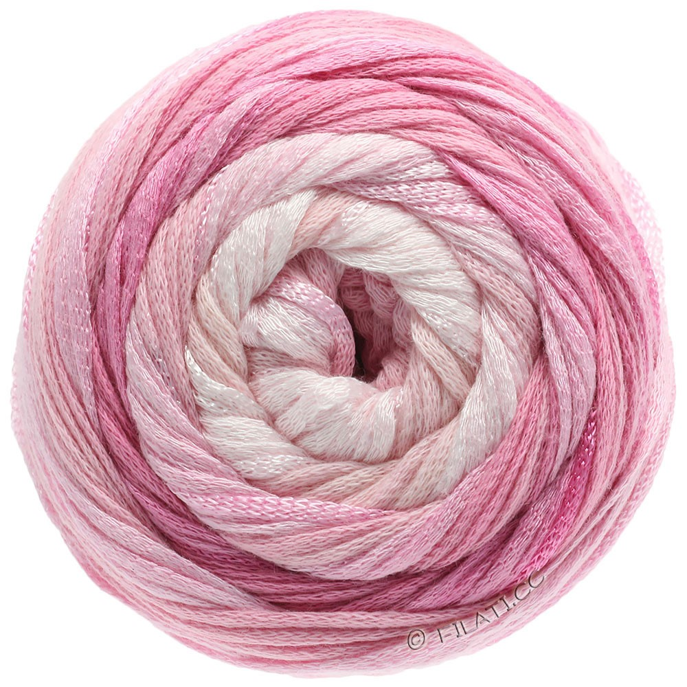 Lana Grossa ALLEGRO Degradé   201-rå hvid/sartrosa/rosa/nellike/pink