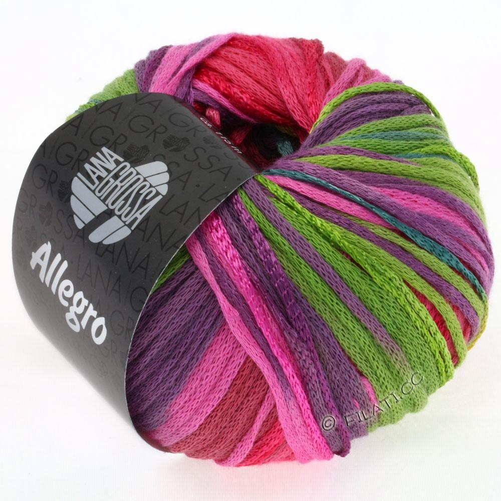Lana Grossa ALLEGRO | 001-turkis/sennepgul/pink/lysegrøn/violet/petrol