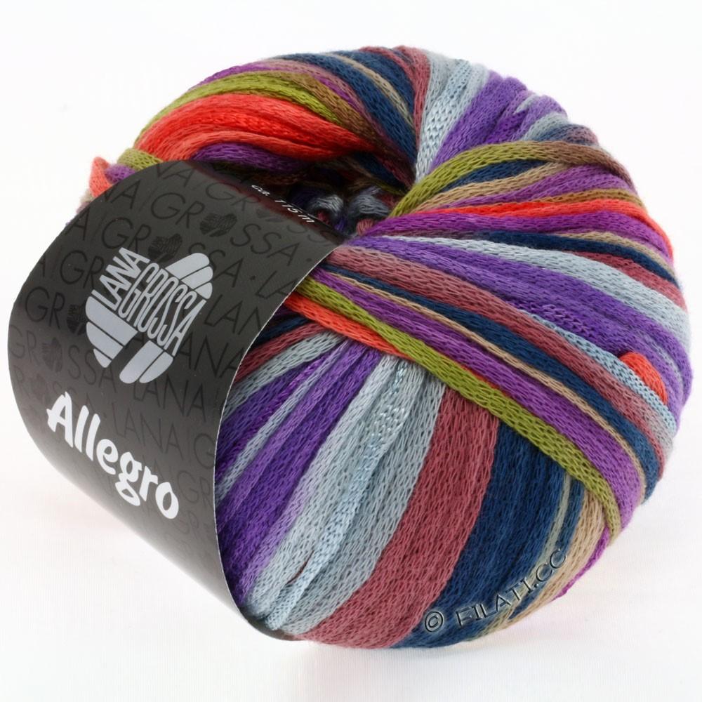 Lana Grossa ALLEGRO | 004-oliven/bær/koral/violet/kamel