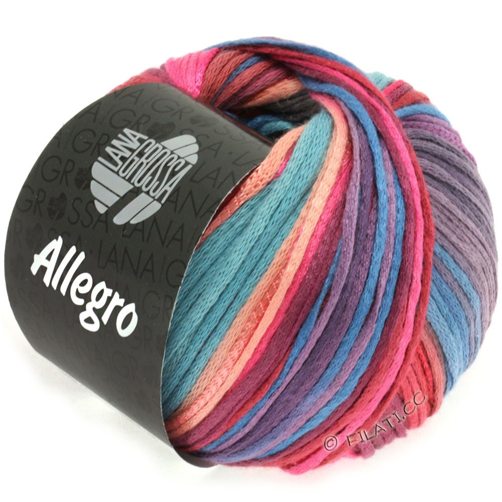 Lana Grossa ALLEGRO | 012-pink/lakse/purpur/gråblå