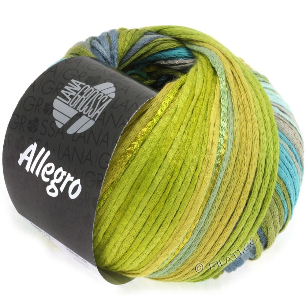 Lana Grossa ALLEGRO | 014-petrol/olivengrøn/stålblå/hø grøn/mosgrøn