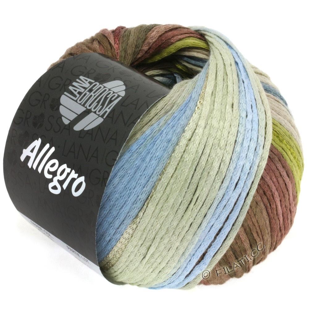 Lana Grossa ALLEGRO | 019-olivengrøn/røgblå/nougat/gråbeige/hø grøn
