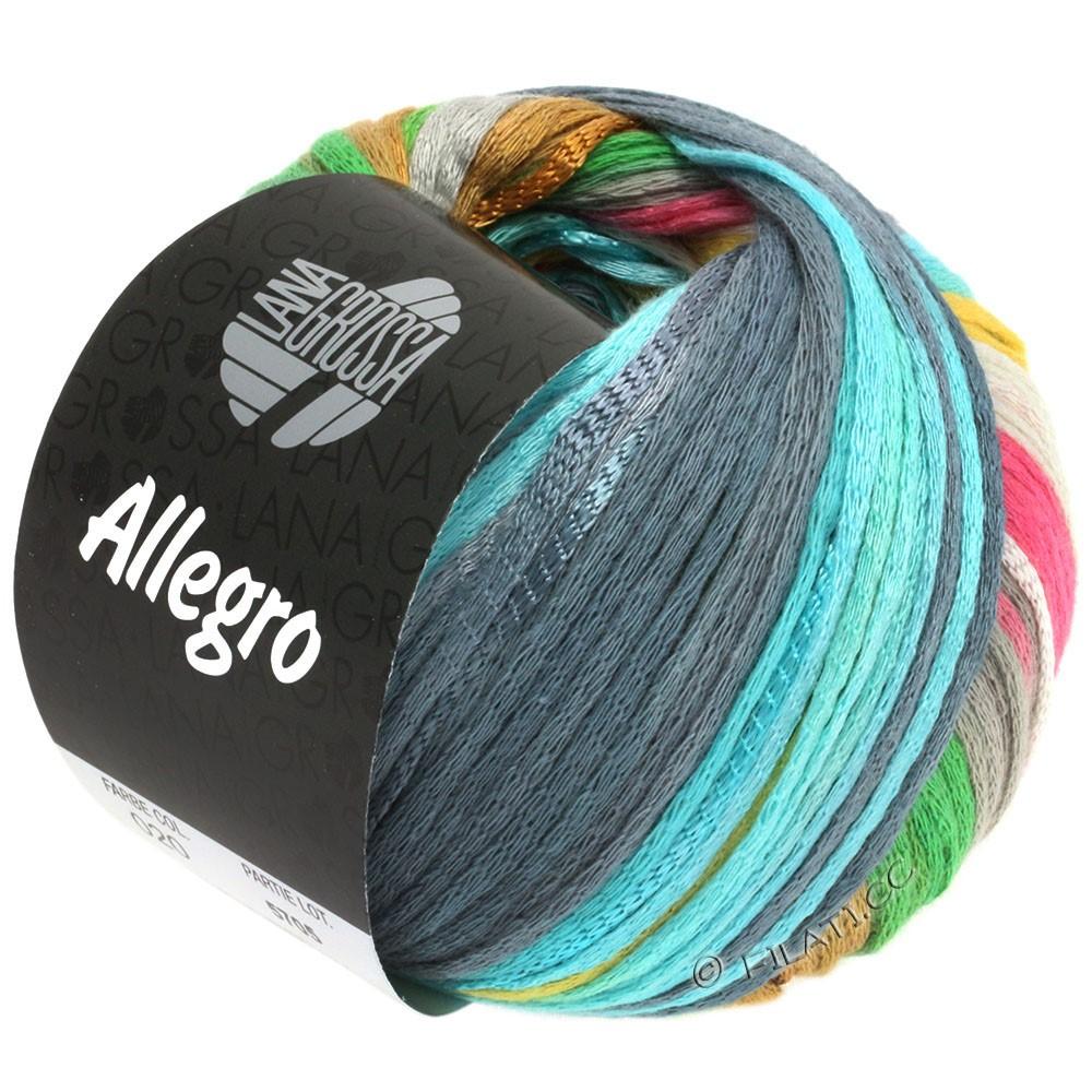 Lana Grossa ALLEGRO | 020-sølvgrå/lysegul/rosa/lysegrøn/blågrå