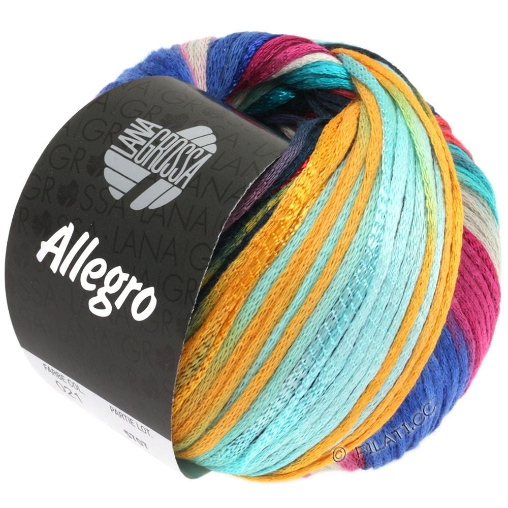 Lana Grossa ALLEGRO | 021-lyseturkis/blå/petrol/mandarin/fictile rød