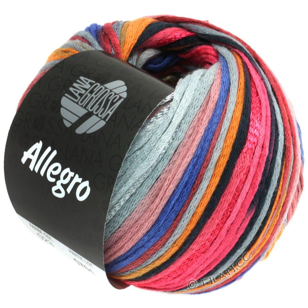 Lana Grossa ALLEGRO | 023-hindbær/orange/sølvgrå/stålblå