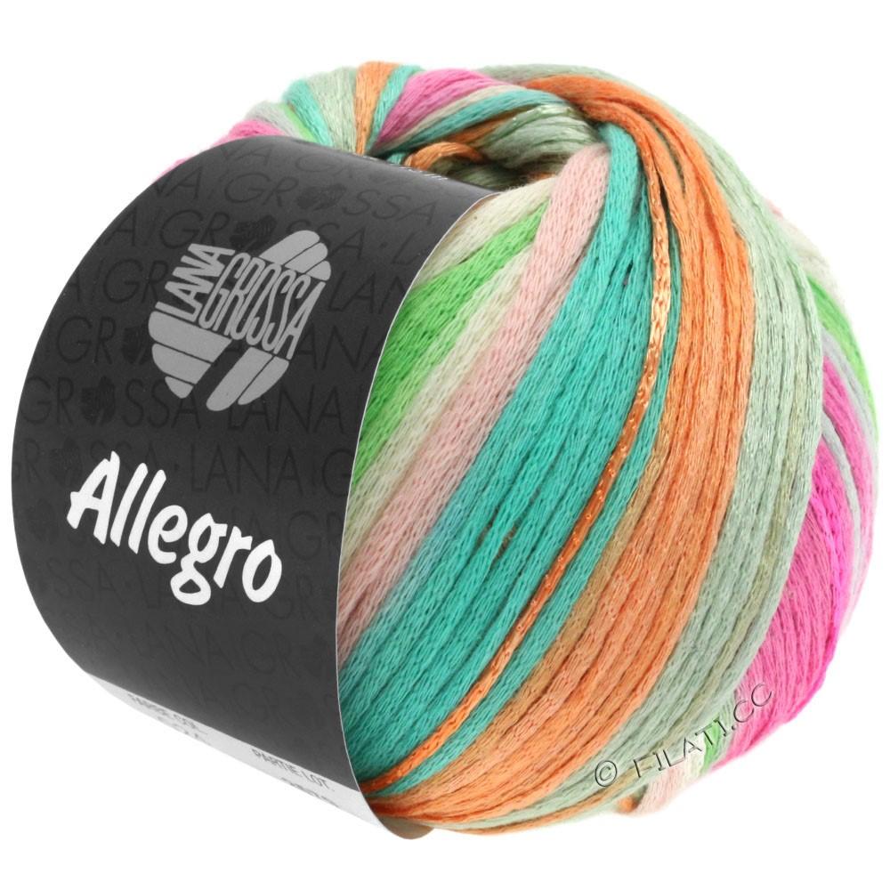 Lana Grossa ALLEGRO | 024-sartrosa/natur/pastelgrøn/turkis/fersken/pink
