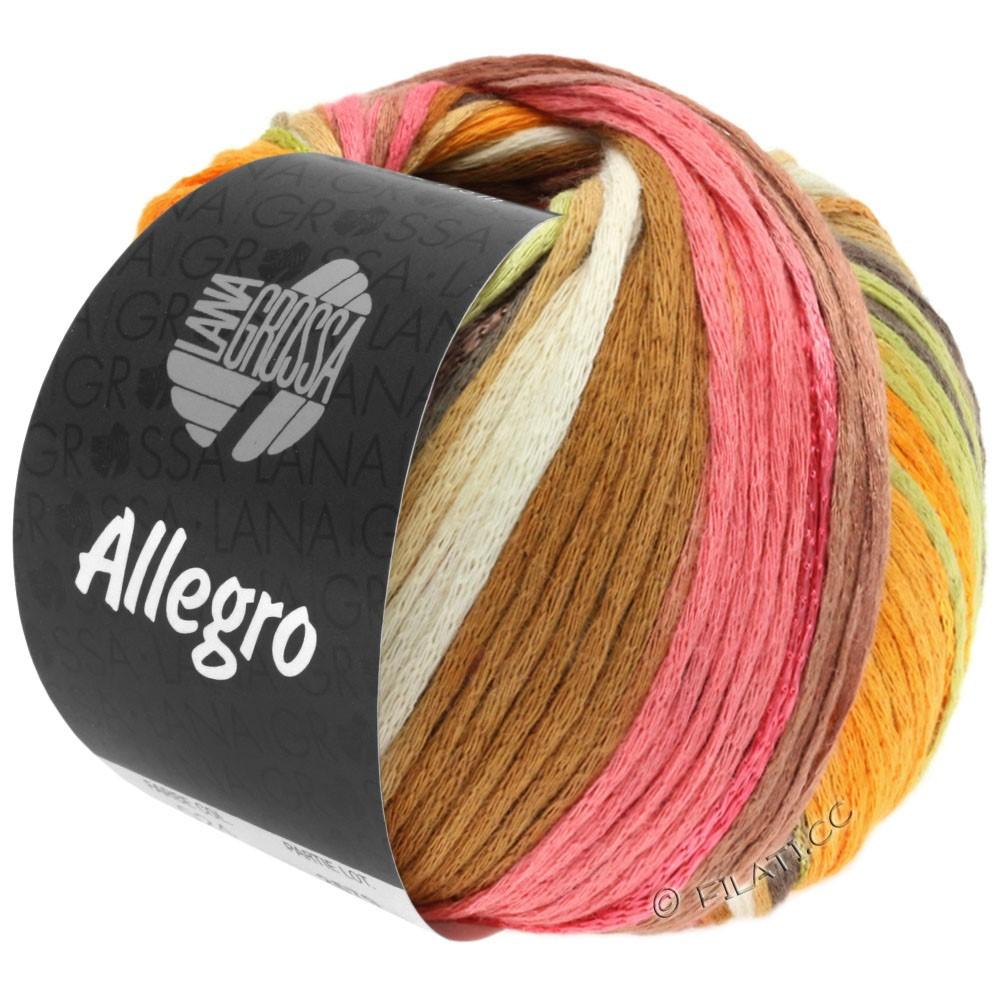 Lana Grossa ALLEGRO | 026-hvid/rav/rosa/rosentræ/natur/bleggrøn