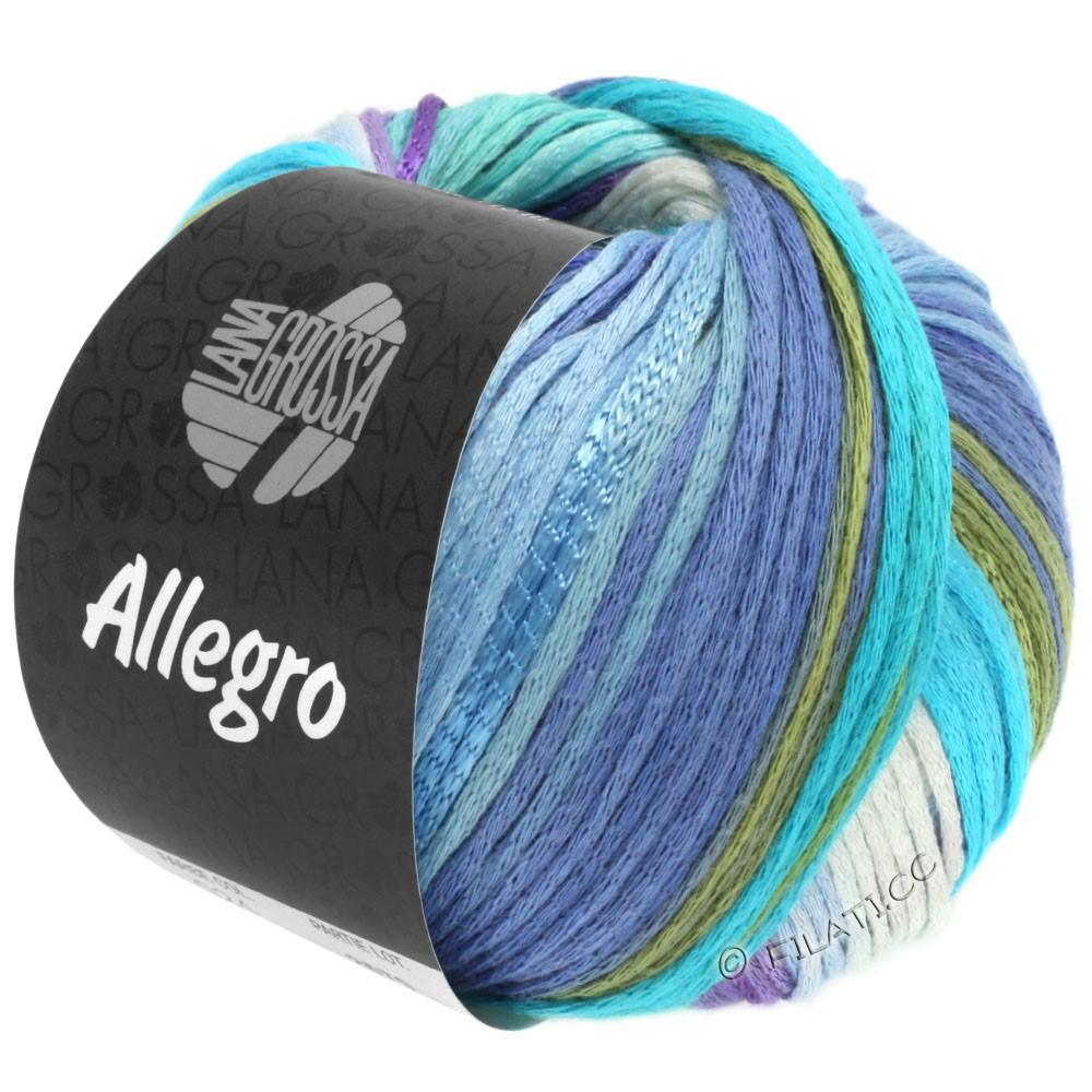 Lana Grossa ALLEGRO | 028-hvid/lyseblå/himmelblå/lyseturkis/sartgrøn/purpur