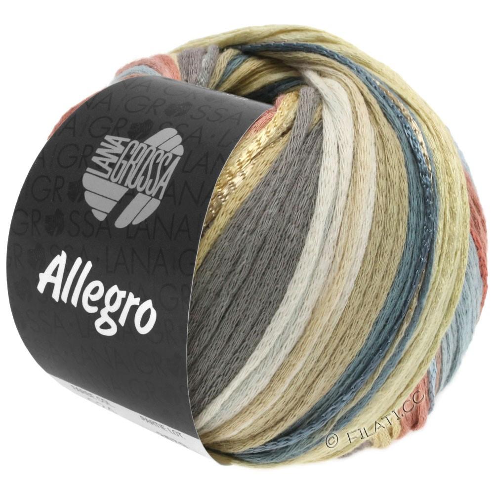 Lana Grossa ALLEGRO | 029-vanilje/natur/mørkegrå/rosentræ/beige