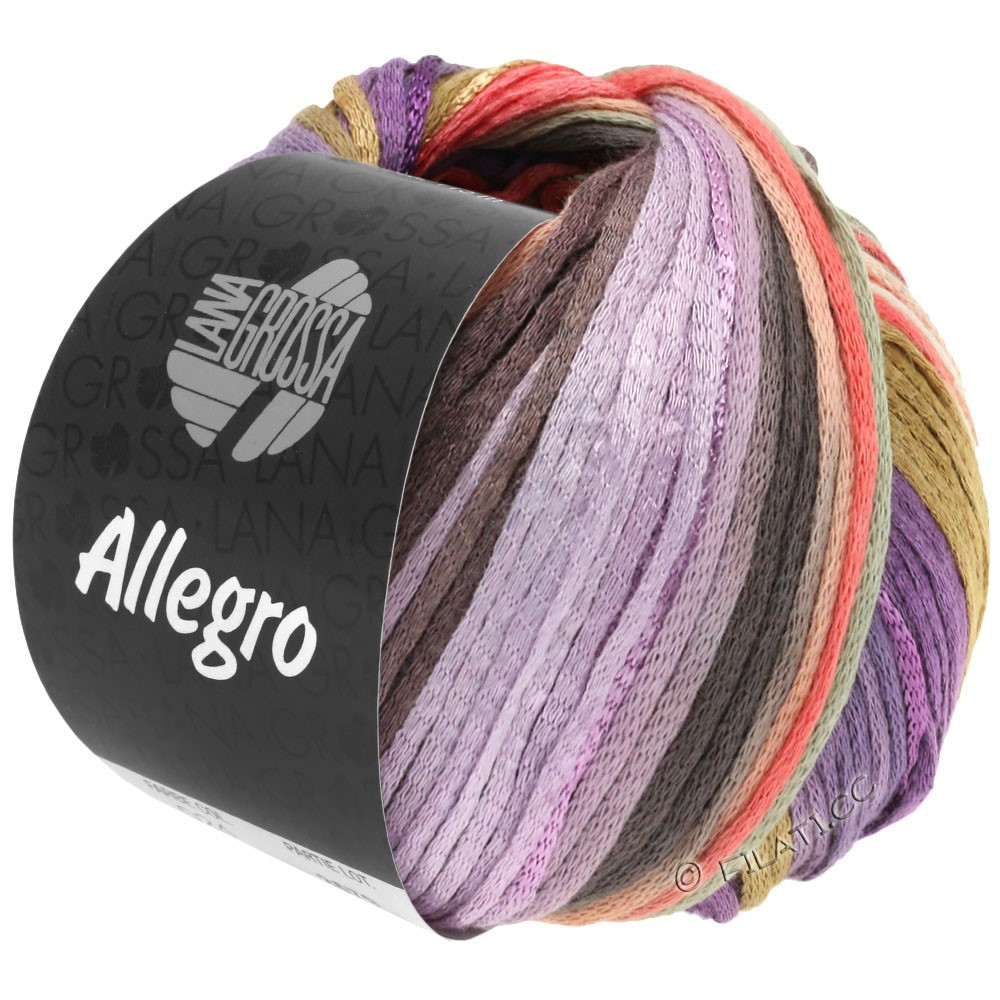 Lana Grossa ALLEGRO | 030-violet/lakse/beige/natur/lilla/taupe/lysegrå