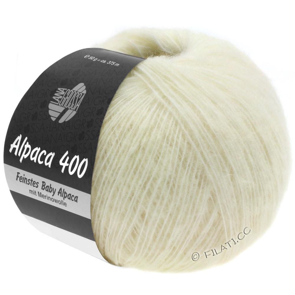 Lana Grossa ALPACA 400 | 01-rå hvid