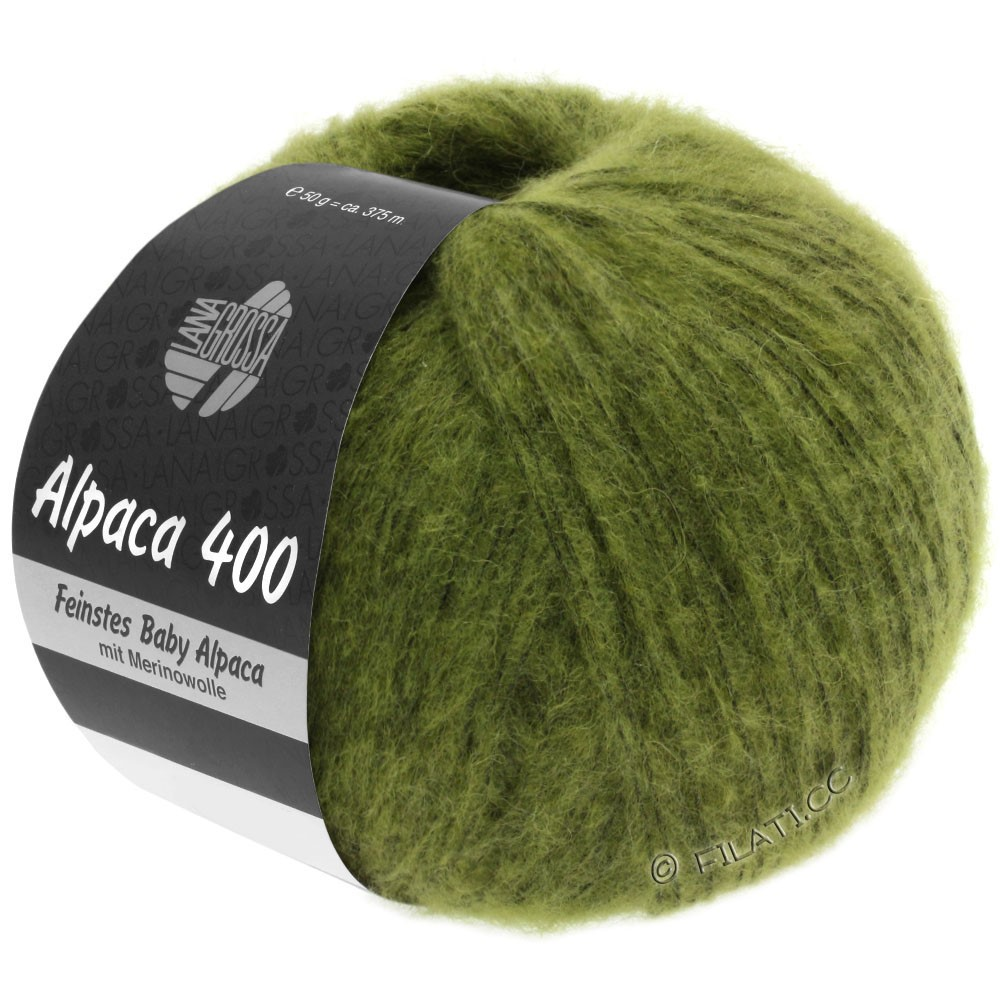 Lana Grossa ALPACA 400 | 11-olivengrøn