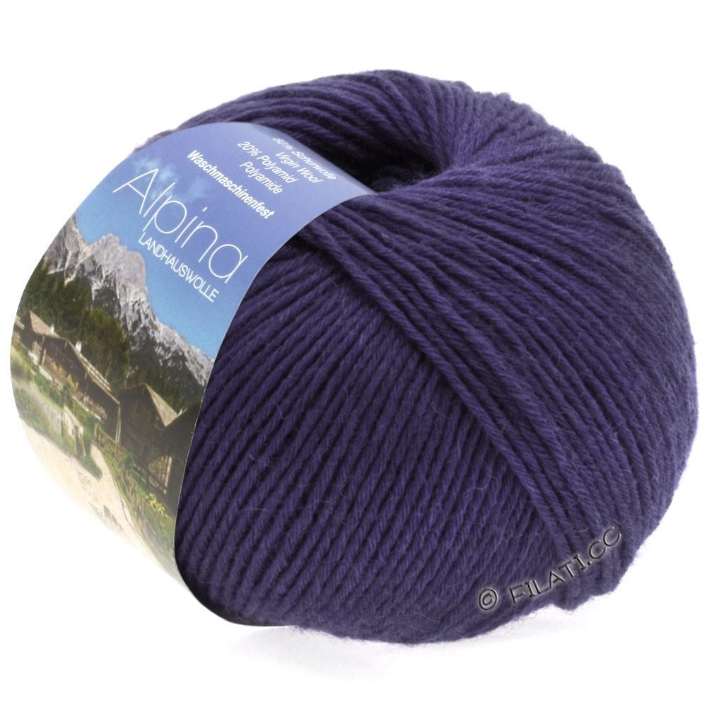 Lana Grossa ALPINA Landhauswolle   30-mørk violet