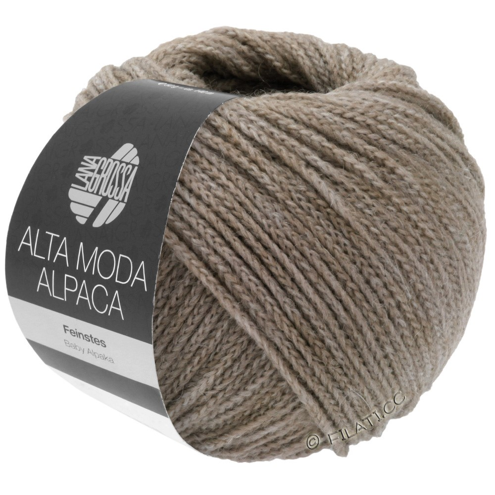 Lana Grossa ALTA MODA ALPACA | 15-grå/beige meleret