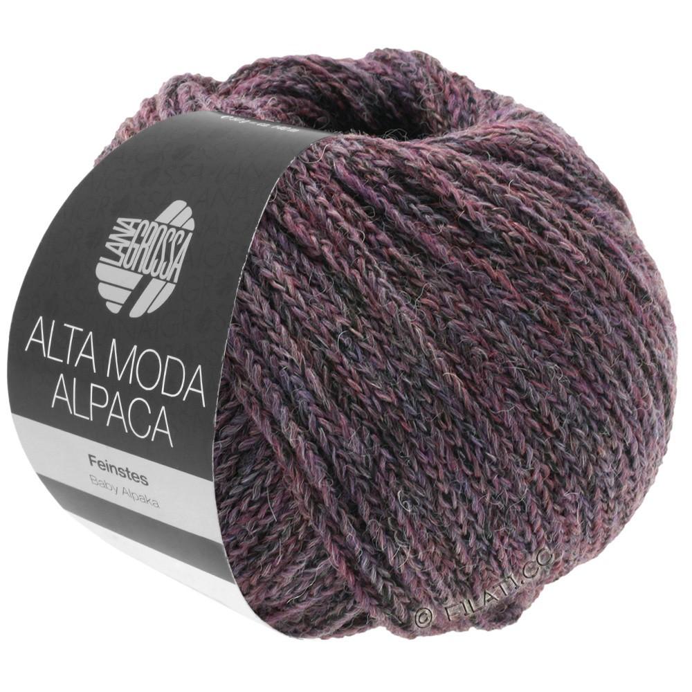 Lana Grossa ALTA MODA ALPACA | 20-brombær/grå meleret