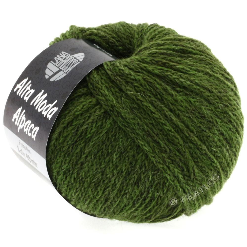 Lana Grossa ALTA MODA ALPACA | 28-mørkegrøn meleret
