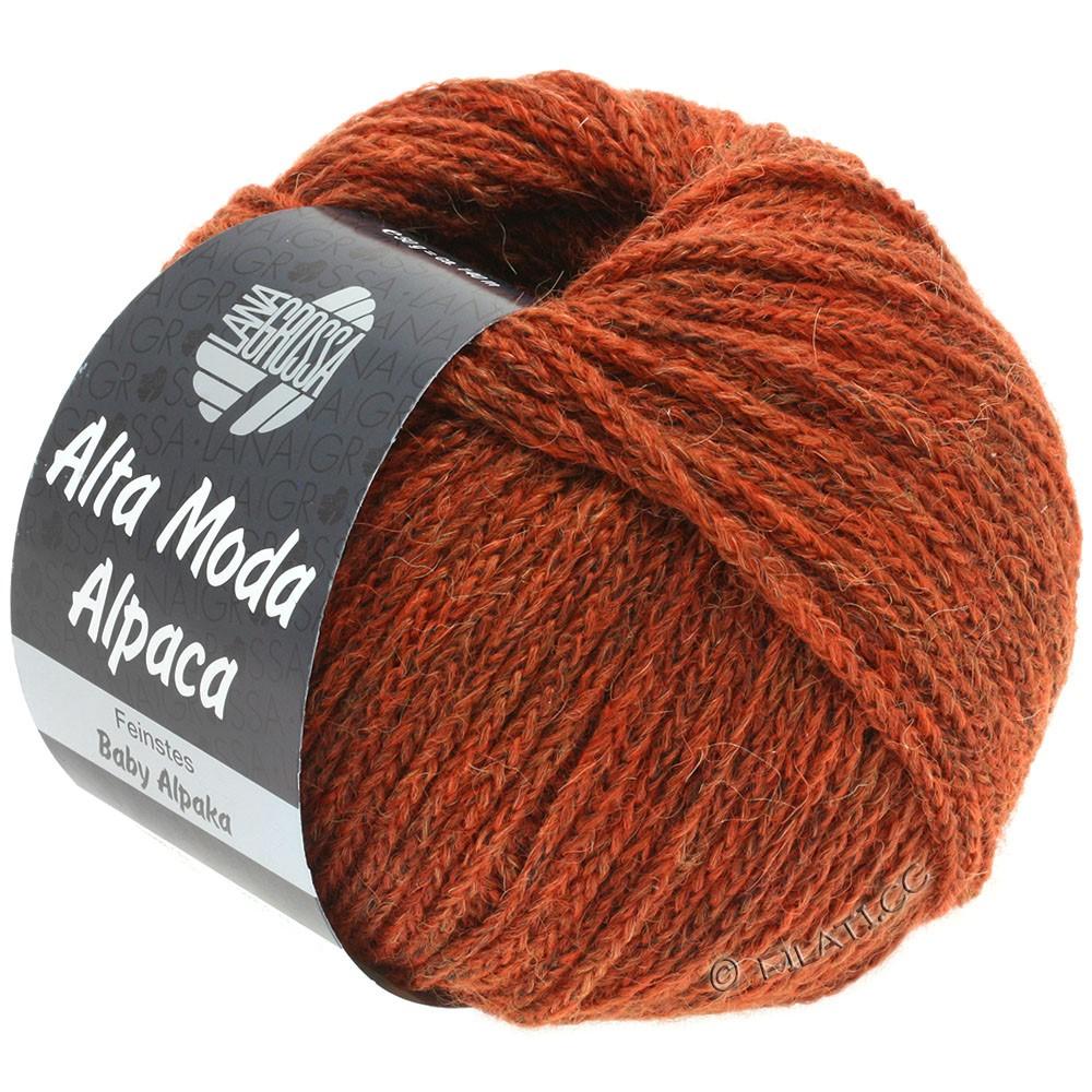 Lana Grossa ALTA MODA ALPACA | 51-rødbrun meleret