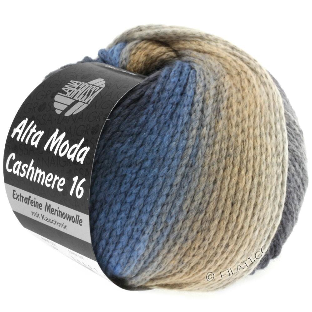 Lana Grossa ALTA MODA CASHMERE 16 Uni/Degradé | 101-jeans/lysegrå/mørkegrå/beige
