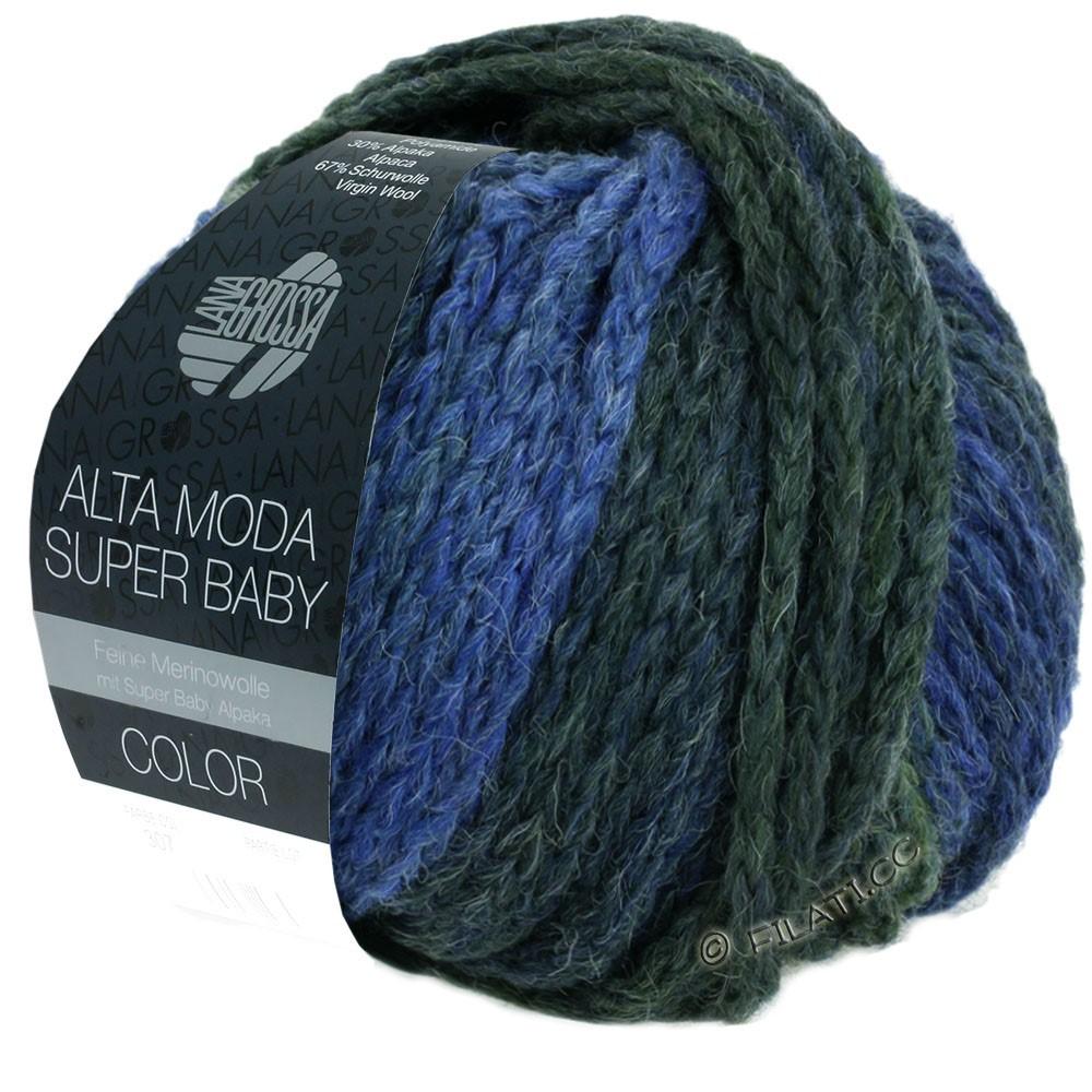 Lana Grossa ALTA MODA SUPER BABY  Color | 303-lyseblå/blå/blågrå