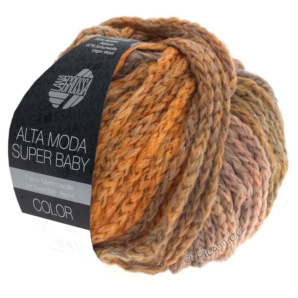 Lana Grossa ALTA MODA SUPER BABY  Color | 306-lysegrå/lysorange/gammelrosa