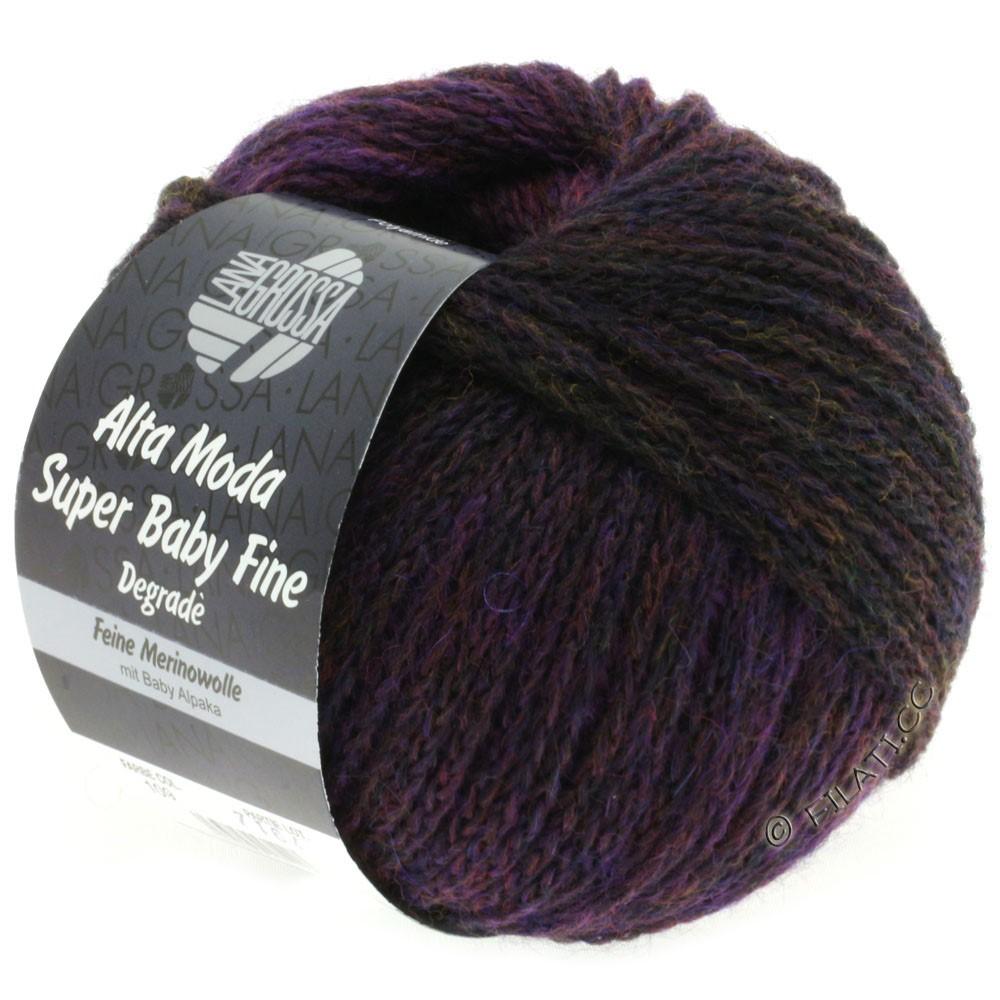 Lana Grossa ALTA MODA SUPER BABY FINE Degradè | 109-mørk oliven/brombær/aubergine