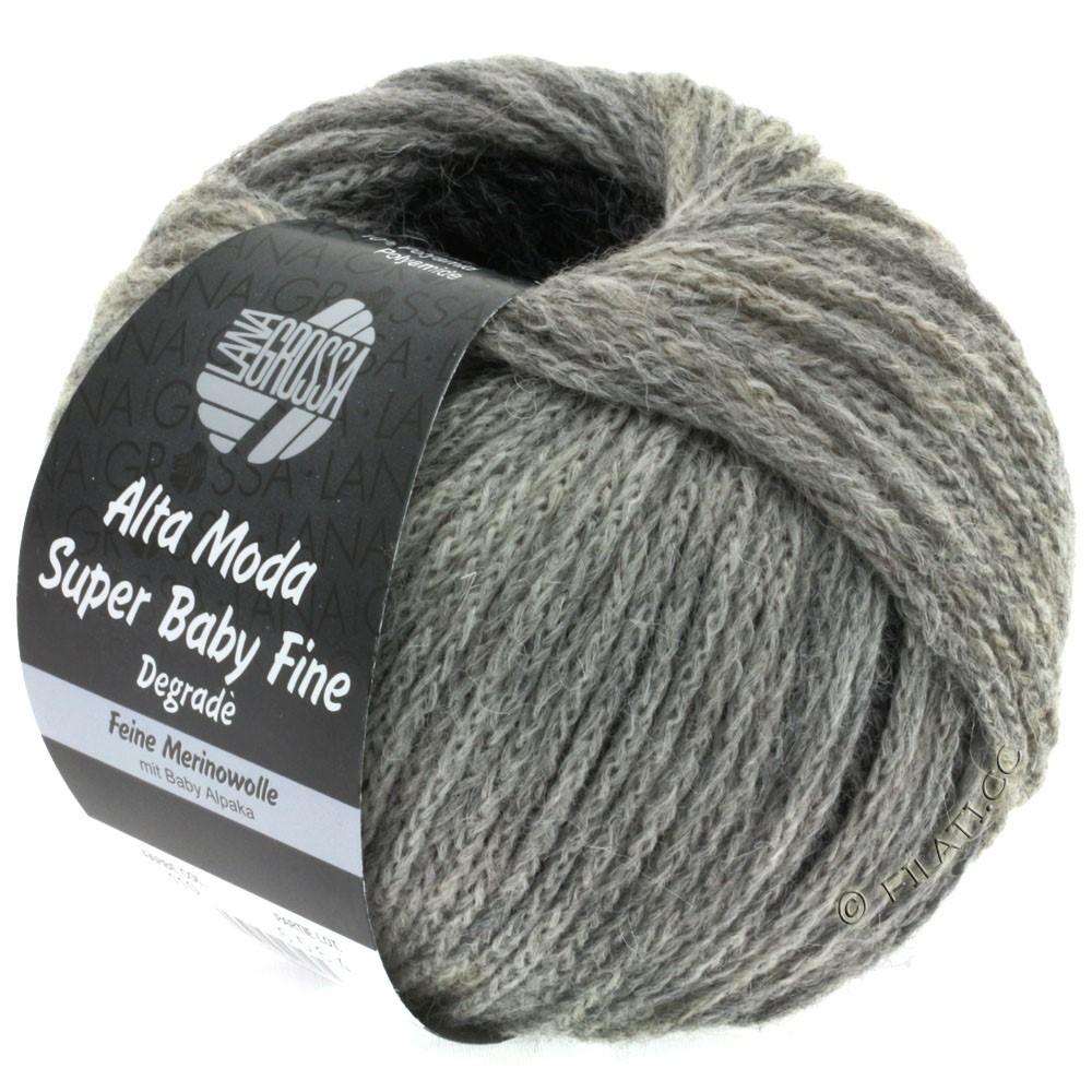 Lana Grossa ALTA MODA SUPER BABY FINE Degradè | 110-lys grå/mellem grå/mørk grå/antracit