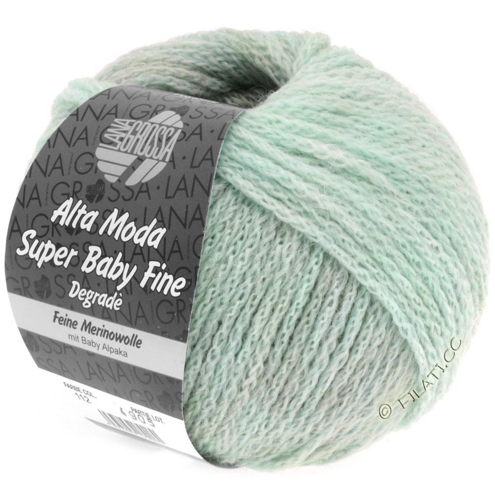 Lana Grossa ALTA MODA SUPER BABY FINE Degradè | 112-mint/grå/natur