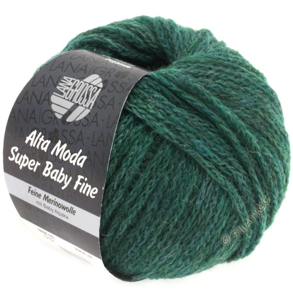 Lana Grossa ALTA MODA SUPER BABY FINE Uni | 19-flaske grøn meleret