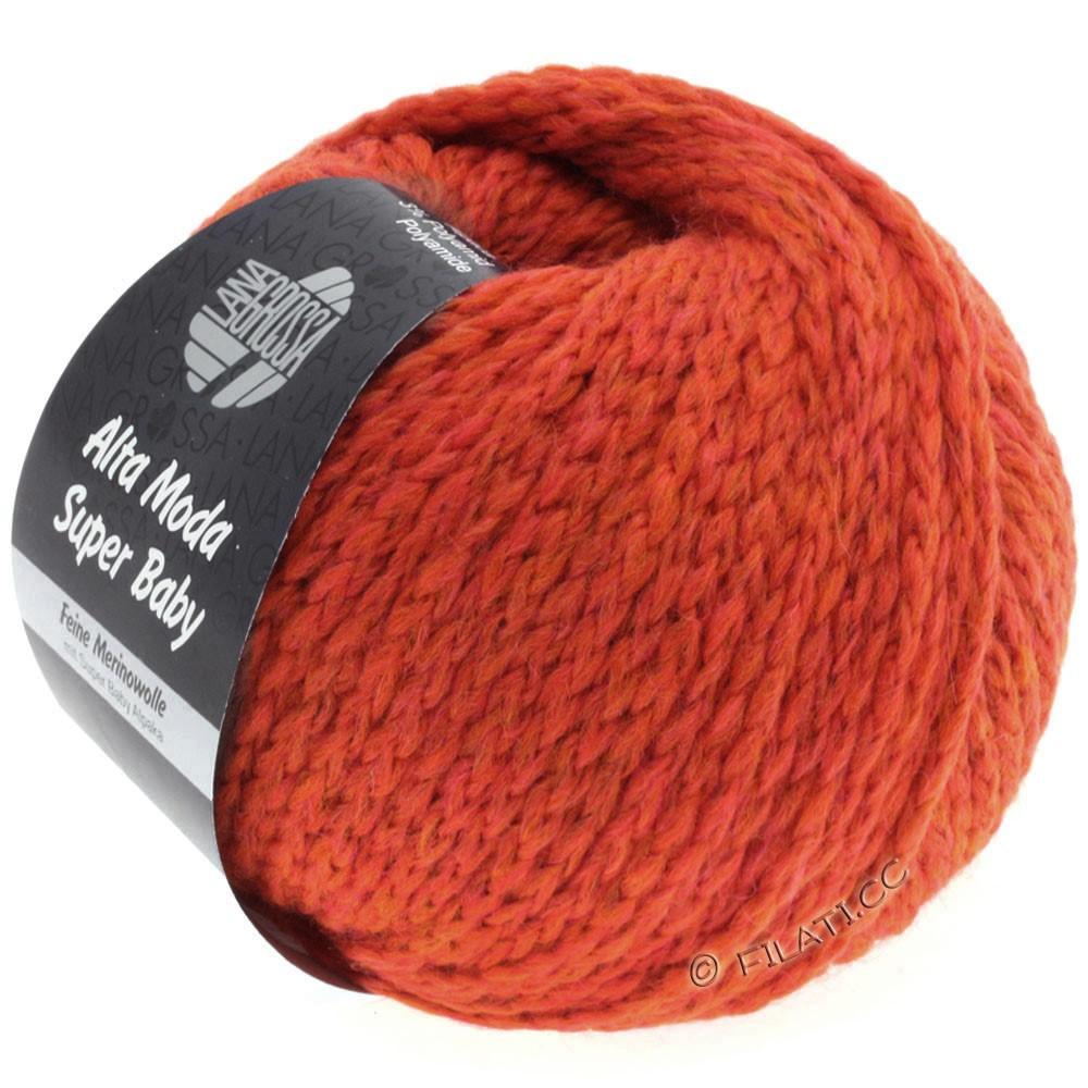 Lana Grossa ALTA MODA SUPER BABY Jaspè | 018-orangerød