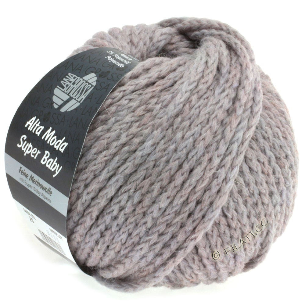 Lana Grossa ALTA MODA SUPER BABY Jaspè   026-grå rosa