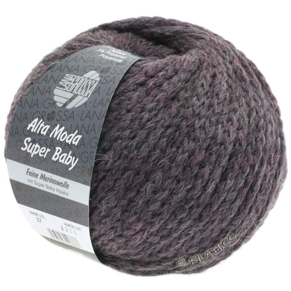 Lana Grossa ALTA MODA SUPER BABY Uni | 037-grå violet meleret