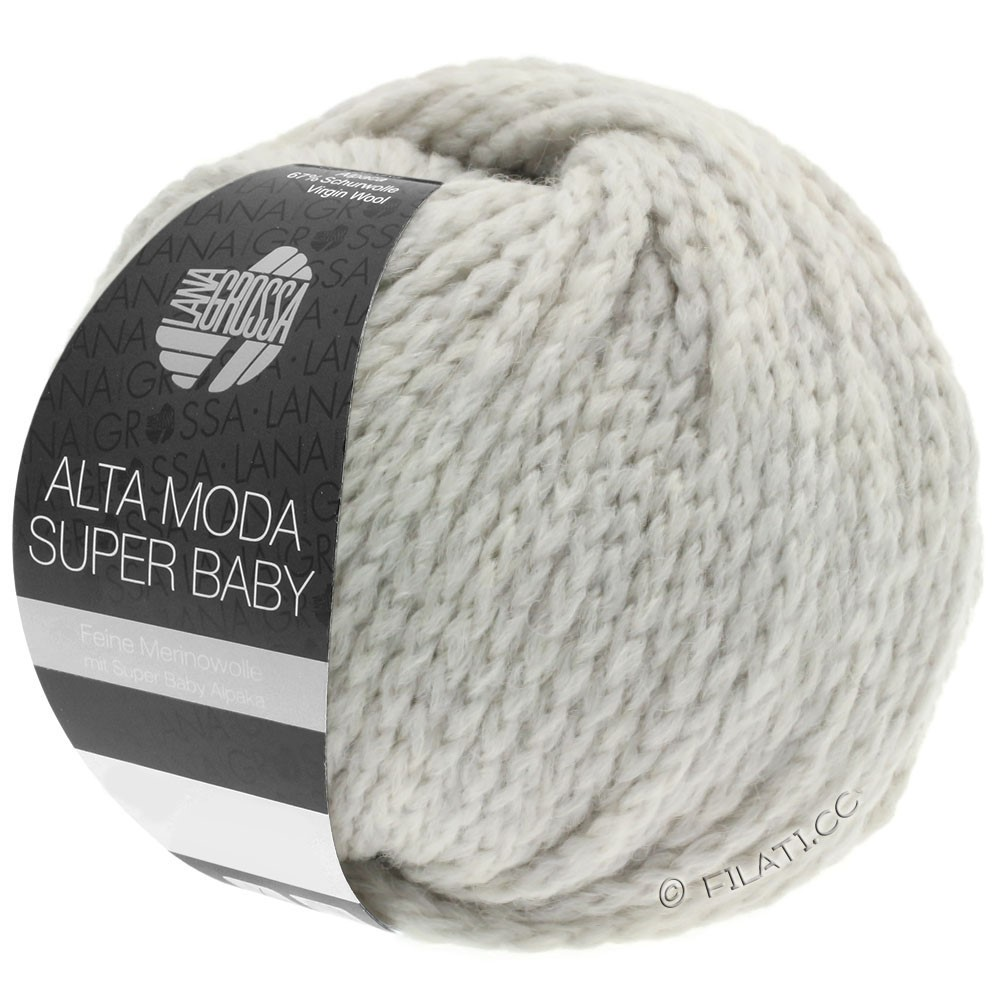 Lana Grossa ALTA MODA SUPER BABY  Uni | 040-sølvgrå