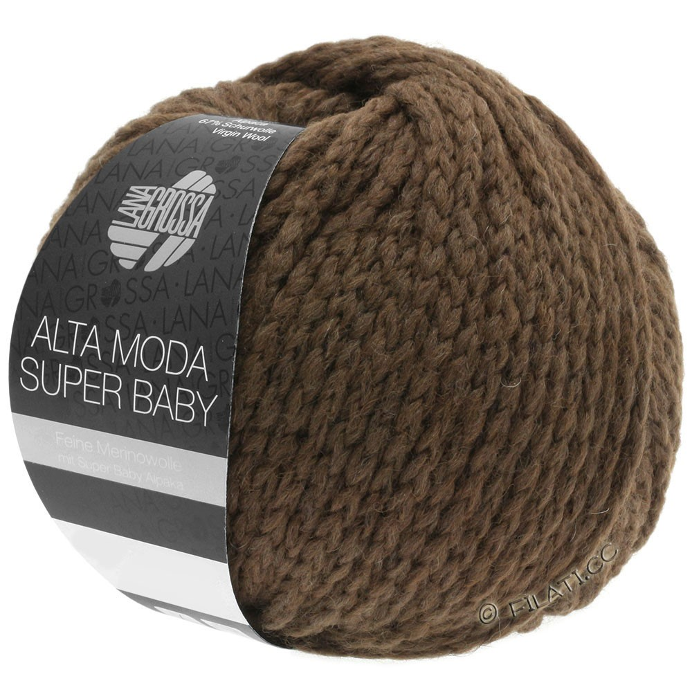 Lana Grossa ALTA MODA SUPER BABY  Uni | 045-mørkebrun