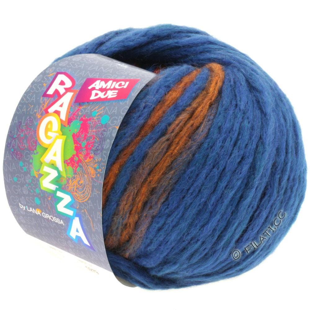 Lana Grossa AMICI DUE (Ragazza) | 103-blå/kobber