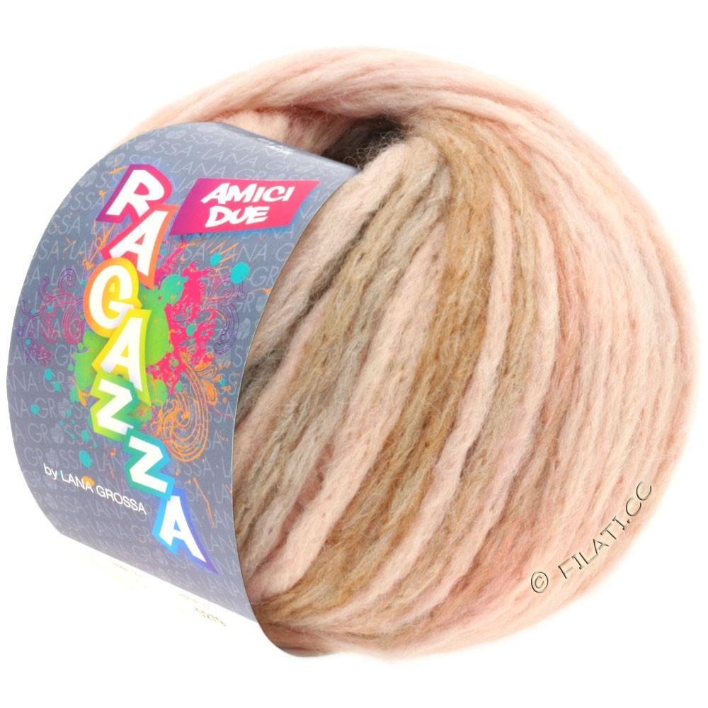 Lana Grossa AMICI DUE (Ragazza) | 109-rosa/lysegrå/brun