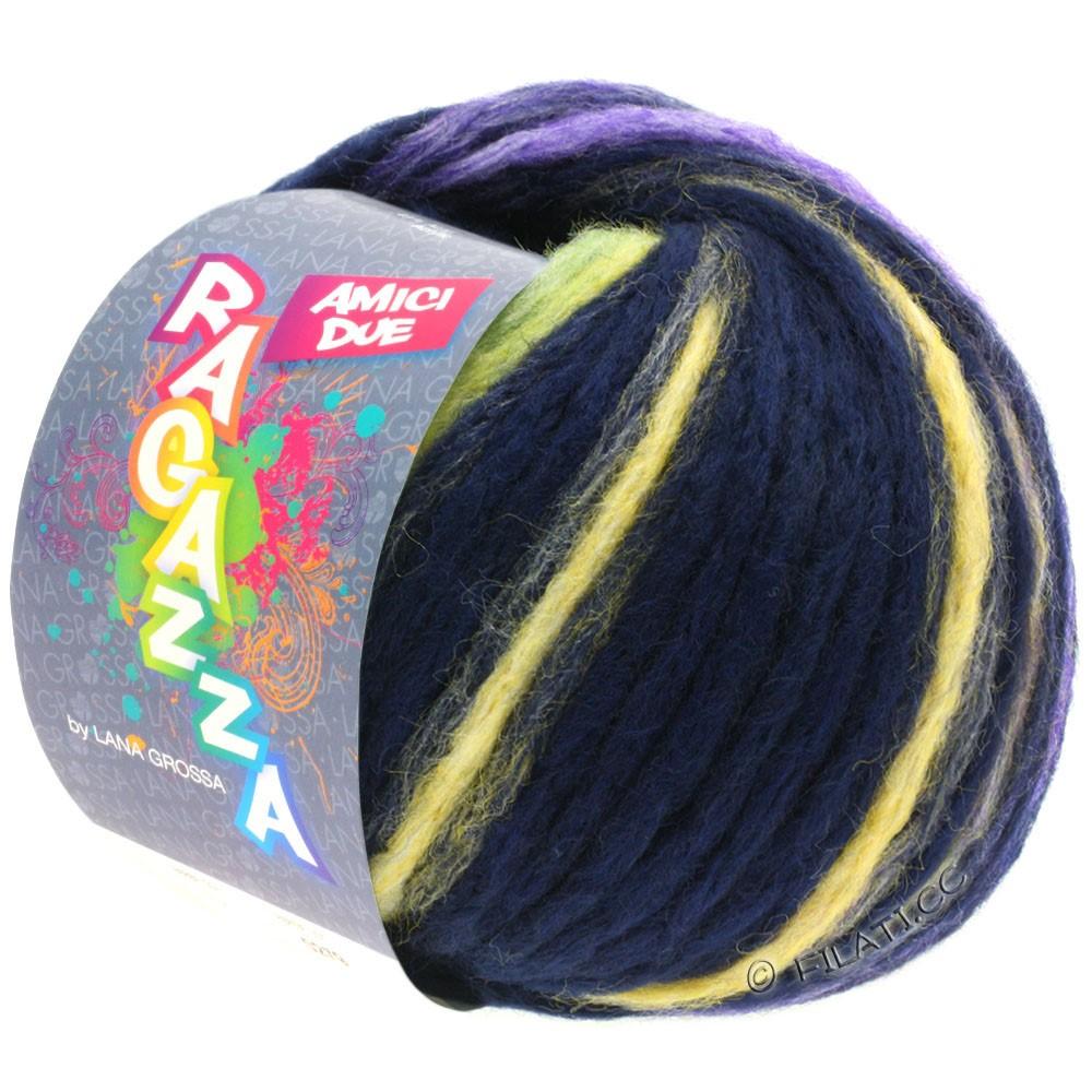 Lana Grossa AMICI DUE (Ragazza) | 116-natblå/gul/pink/purpur/lysegrøn