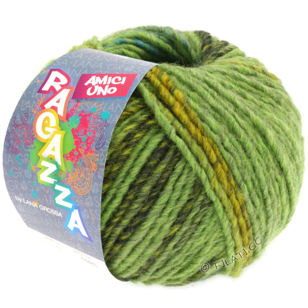 Lana Grossa AMICI UNO (Ragazza) | 301-lysegrøn/gulgrøn/mørkegrøn