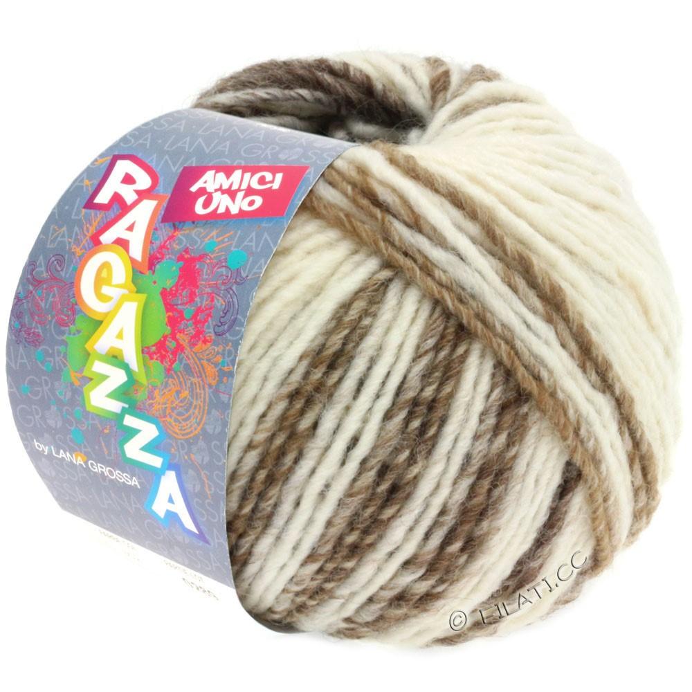 Lana Grossa AMICI UNO (Ragazza) | 308-rå hvid/taupe/beige