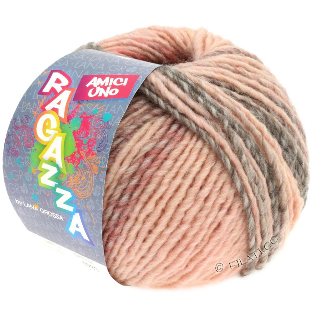 Lana Grossa AMICI UNO (Ragazza) | 309-rosa/lysegrå/brun