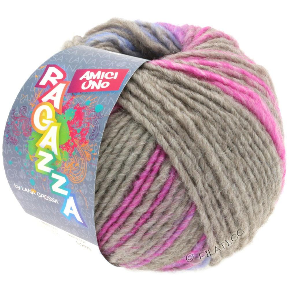 Lana Grossa AMICI UNO (Ragazza) | 314-grå/pink/purpur/turkis