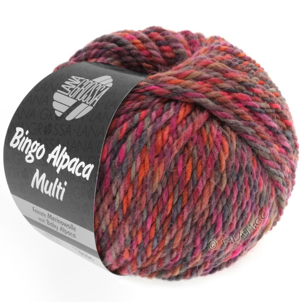 Lana Grossa BINGO ALPACA Multi | 103-hindbær/bær/taupe/ruste/pink/rødviolet