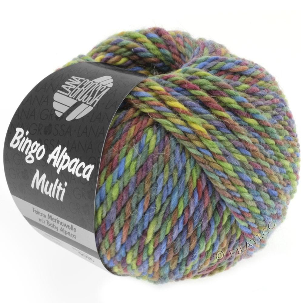 Lana Grossa BINGO ALPACA Multi | 106-resedagrøn/gulgrøn/viol/teglstensrød/blå/petrol