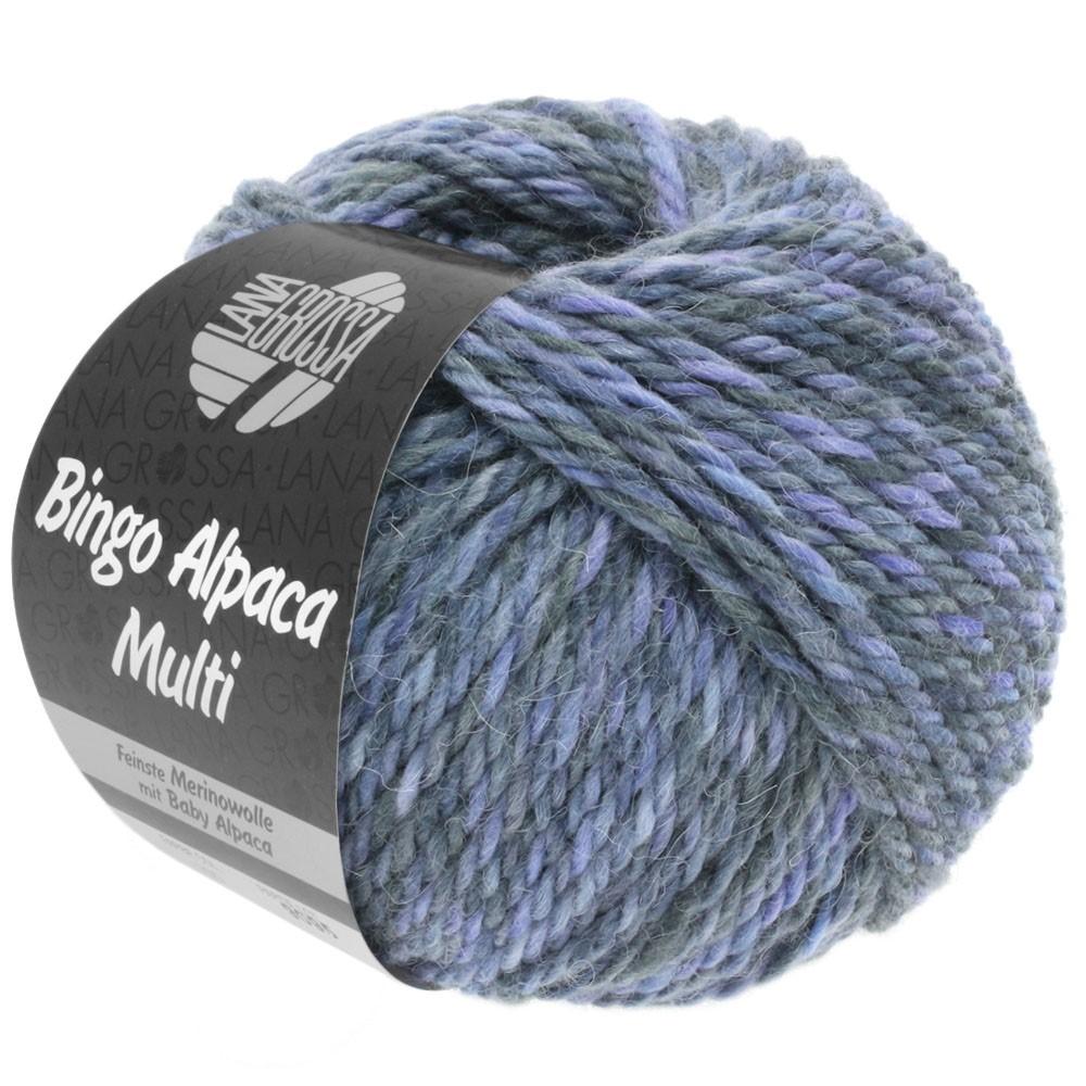 Lana Grossa BINGO ALPACA Multi | 108-purpur/violetblå/grå/mørkegrå
