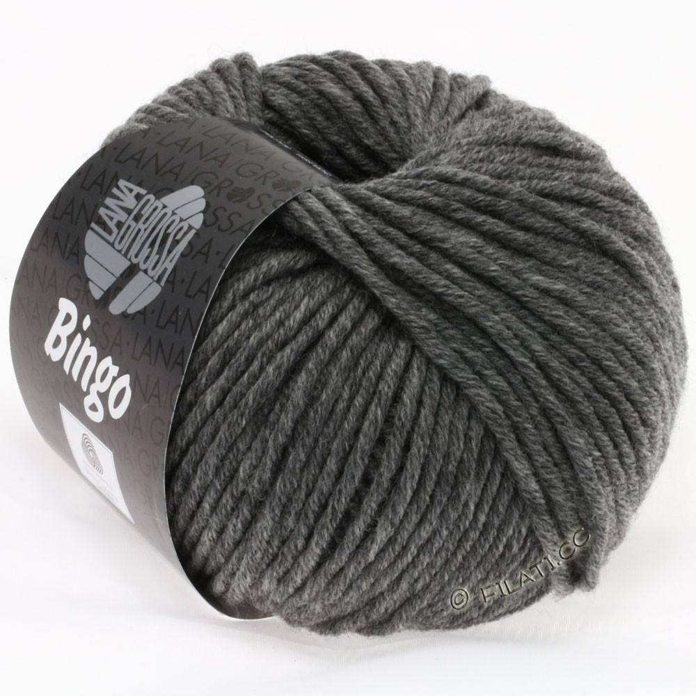 Lana Grossa BINGO  Uni/Melange | 120-mørkegrå meleret